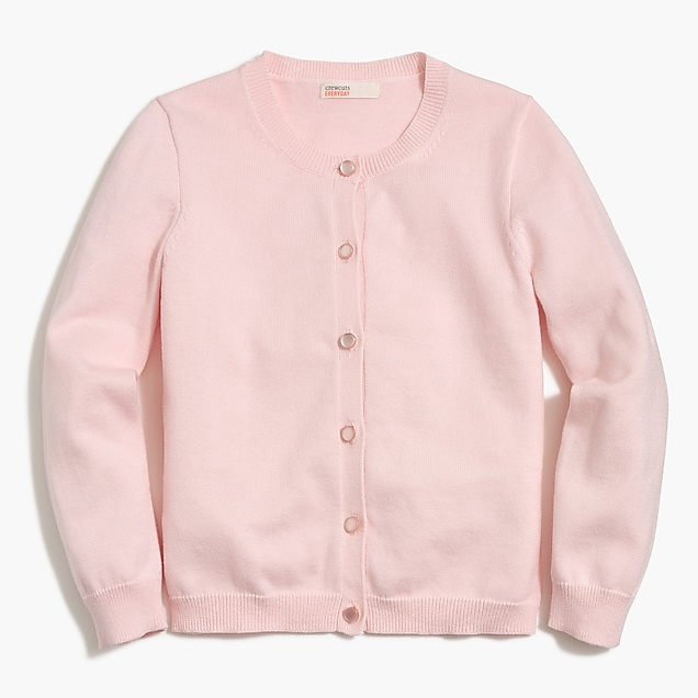 j.crew factory: girls' casey cardigan sweater