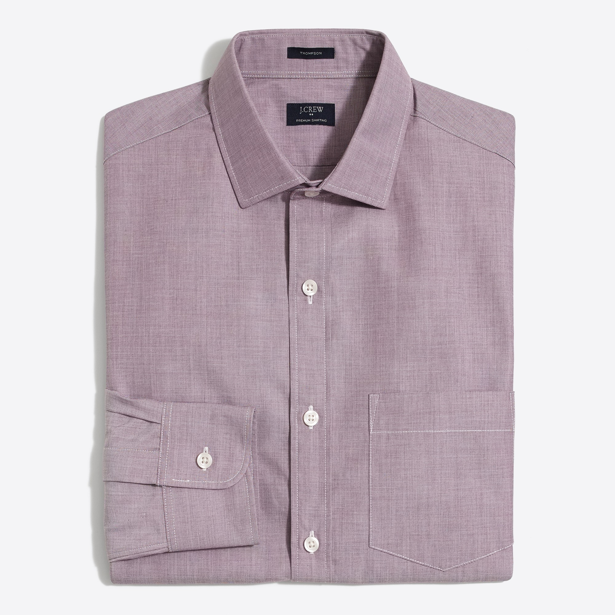 thompson dress shirt in end-on-end : factorymen classic dress shirts