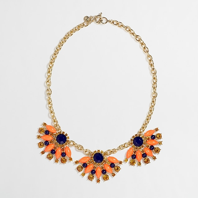 j.crew factory: factory stone fan necklace