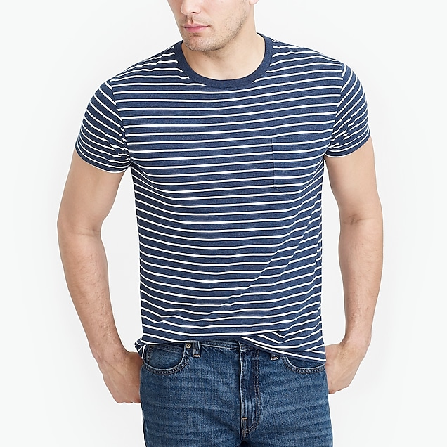 j.crew factory: tall slim broken-in striped pocket t-shirt