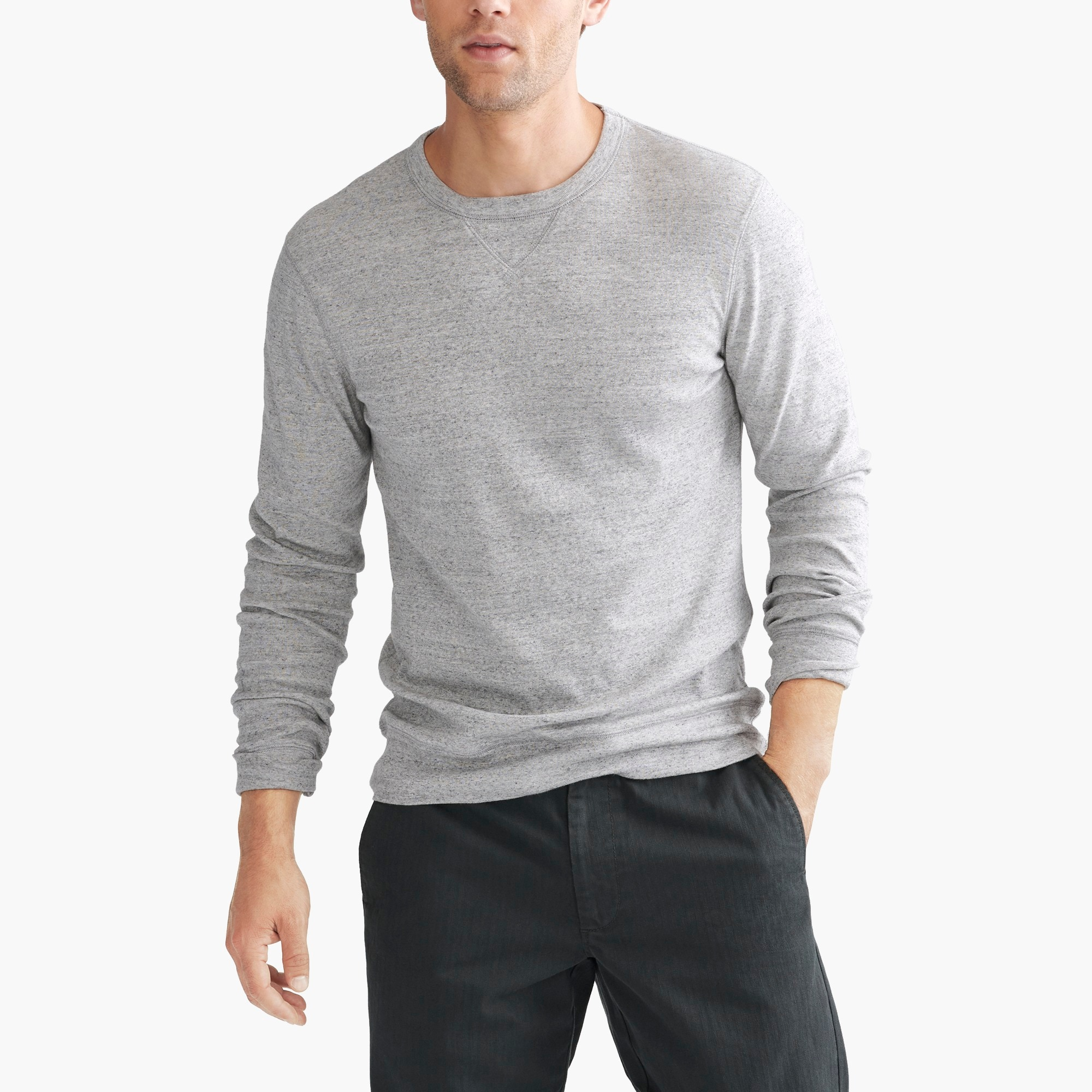 Image 1 for Long-sleeve twisted rib T-shirt