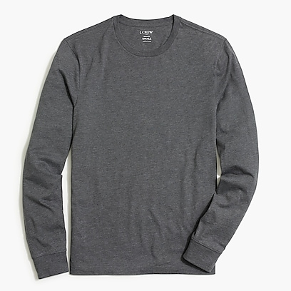 factory mens Heathered long-sleeve T-shirt