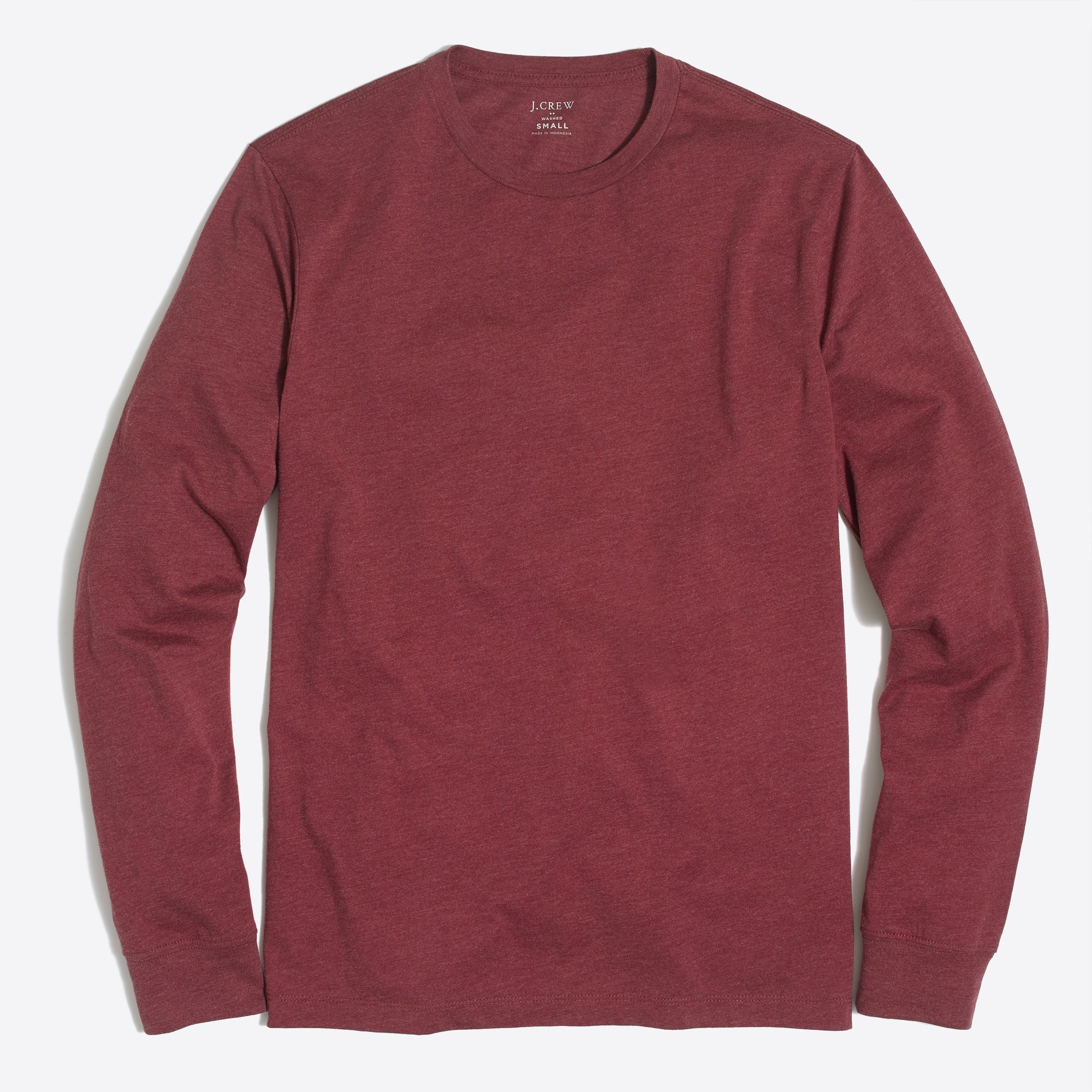 Heathered long-sleeve T-shirt factorymen online exclusives c