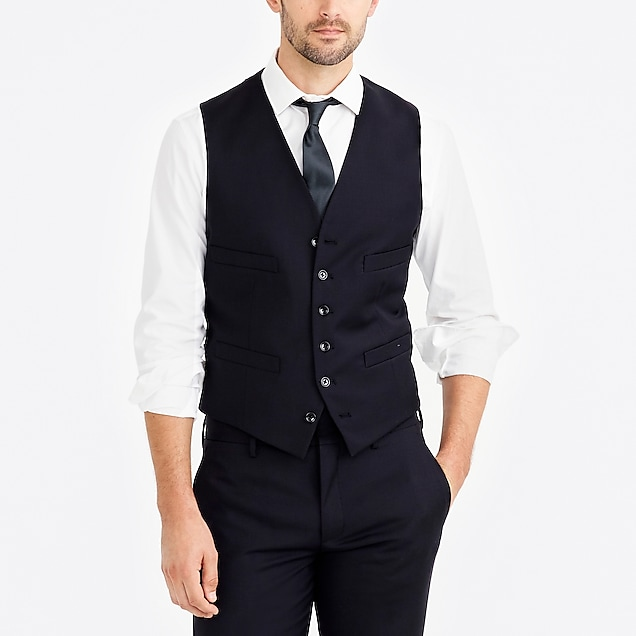 j.crew factory: thompson suit vest in worsted wool