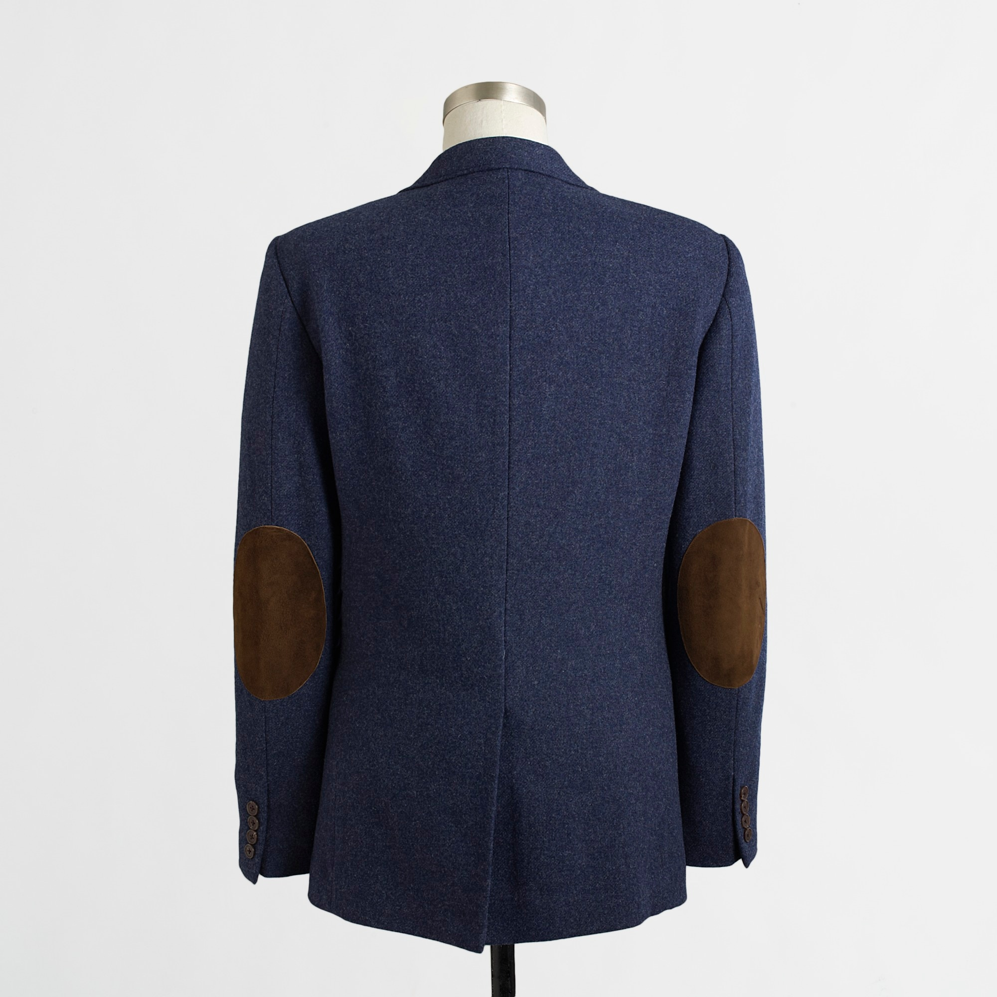 Image 2 for Thompson elbow-patch blazer in tweed wool