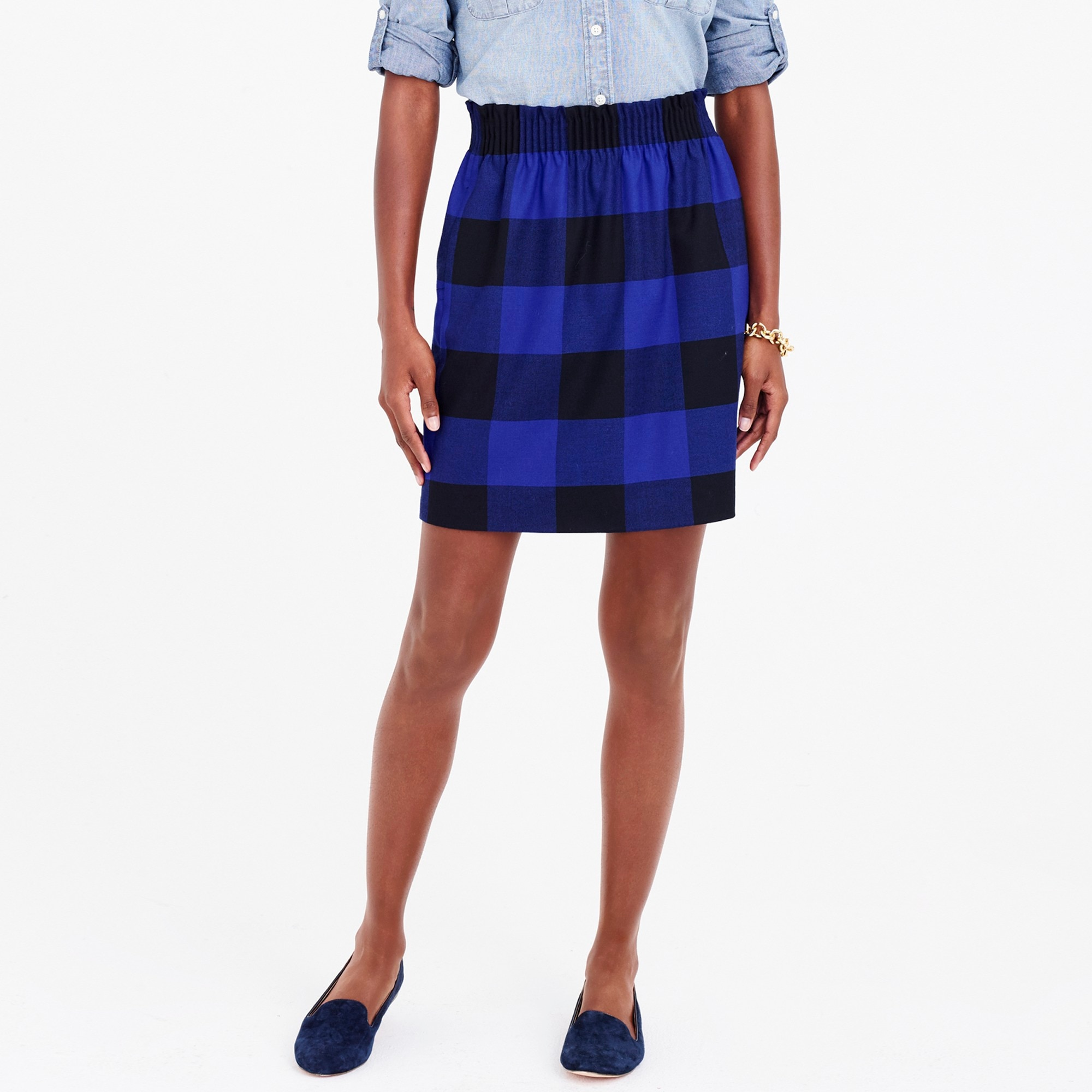 Image 1 for Wool sidewalk skirt in plaid