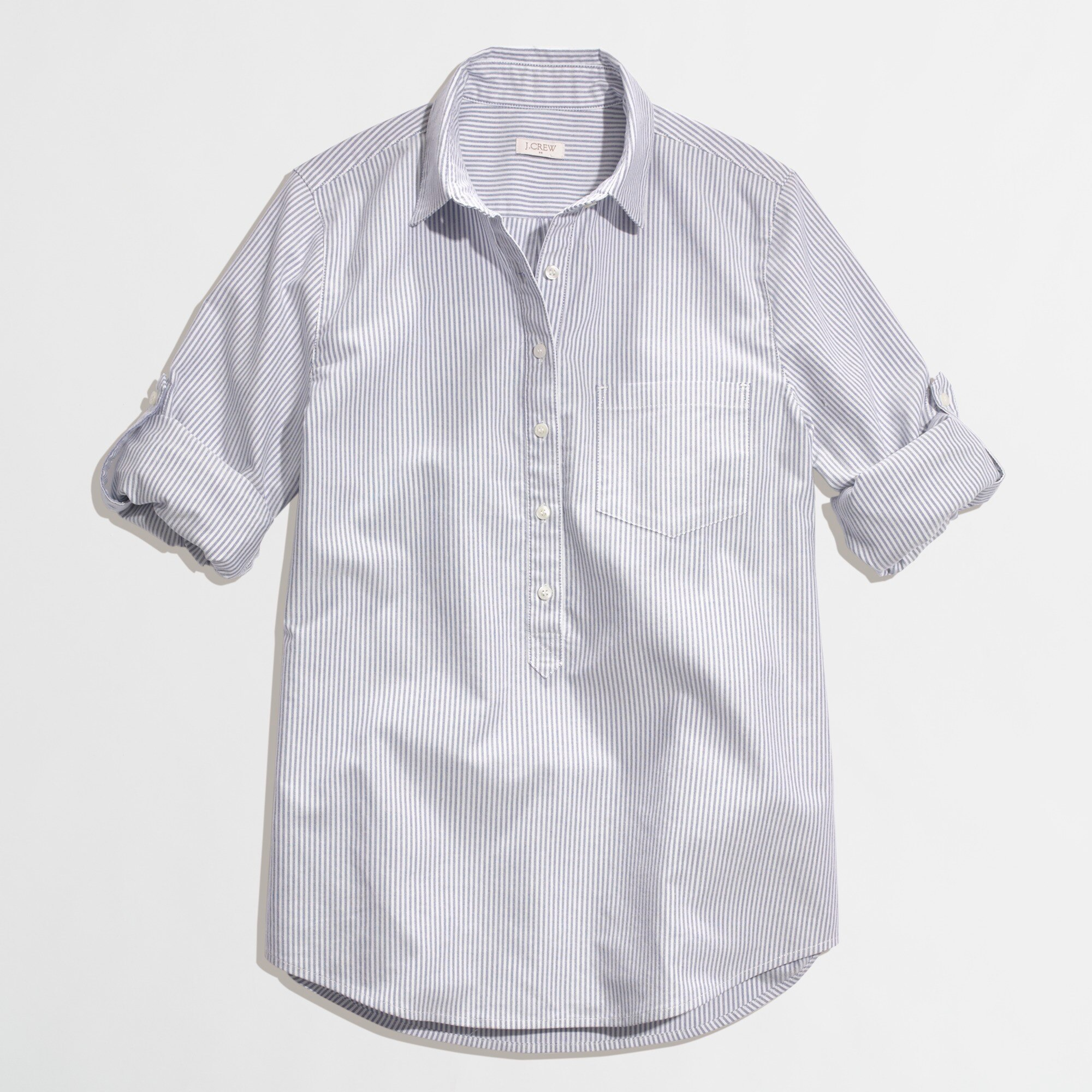 stripe oxford popover shirt :
