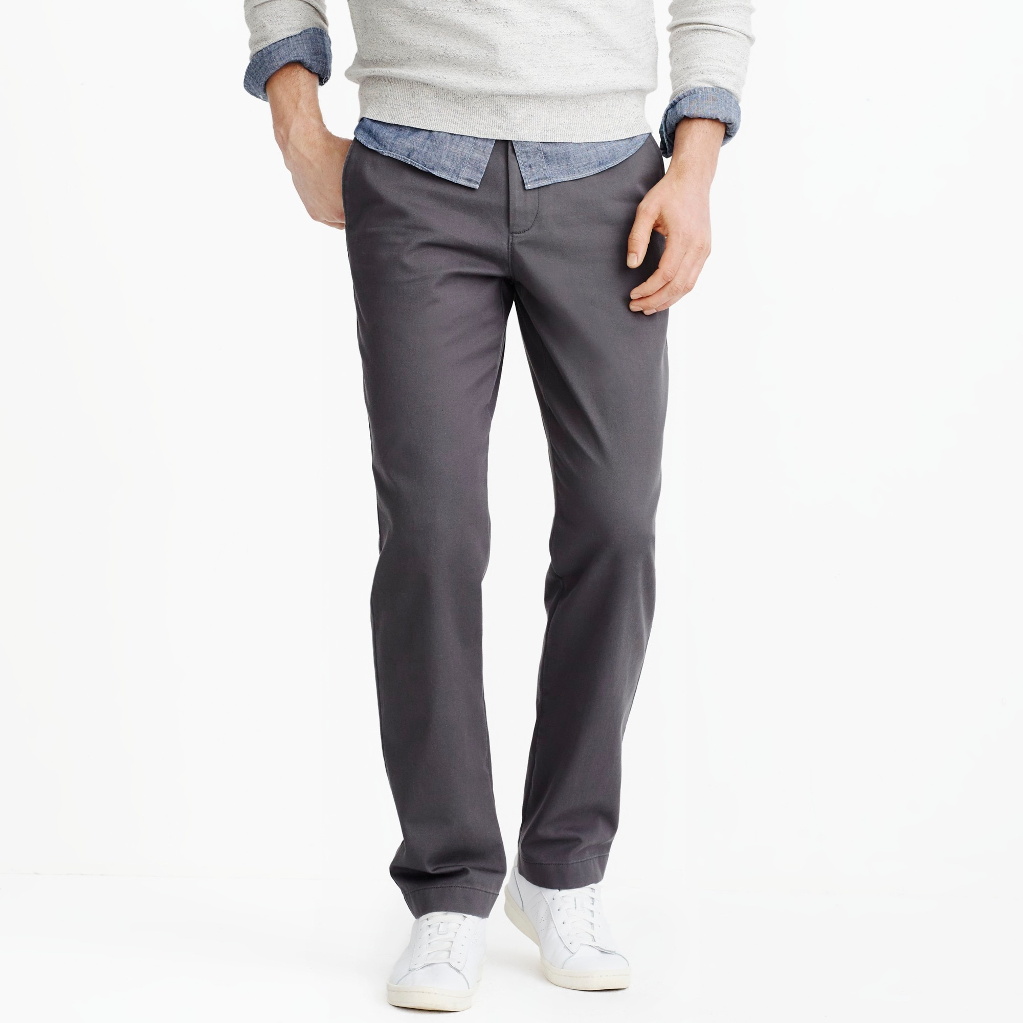 factory mens Bleecker athletic-fit broken-in chino