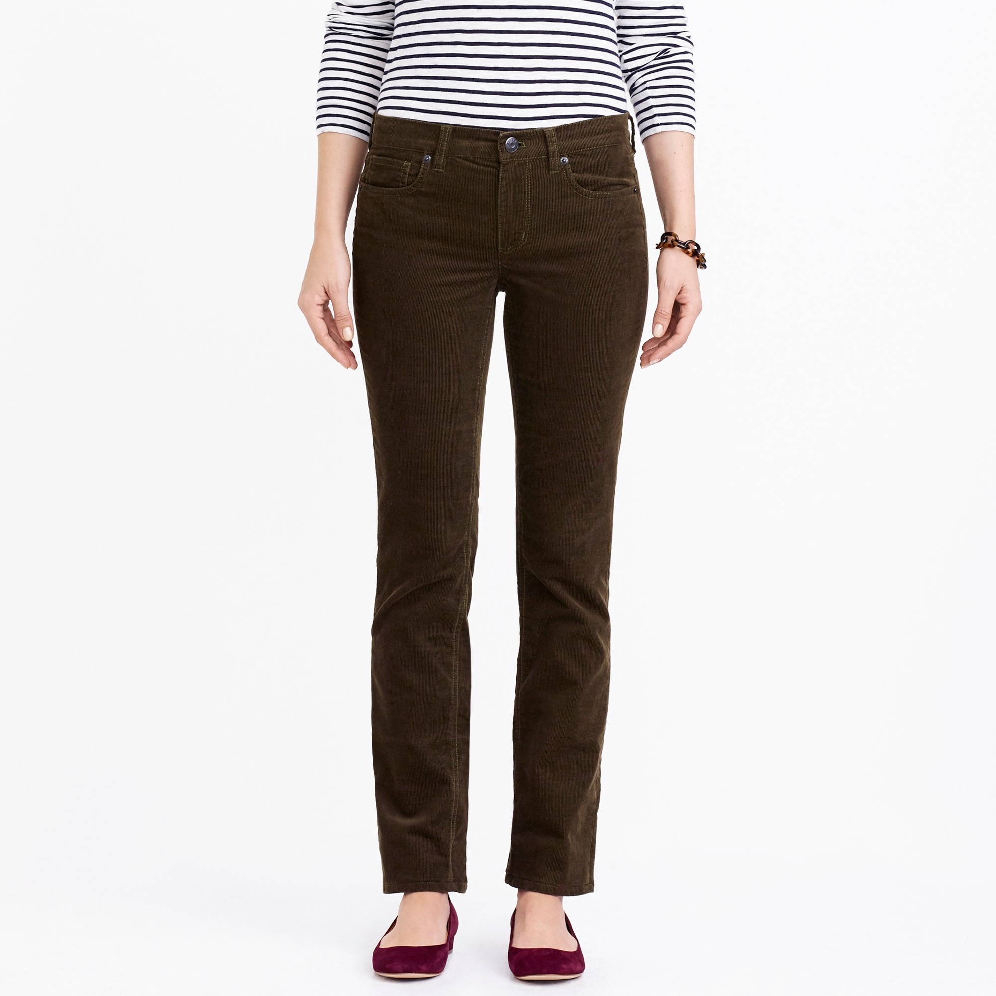 straight and narrow cord - women's pants