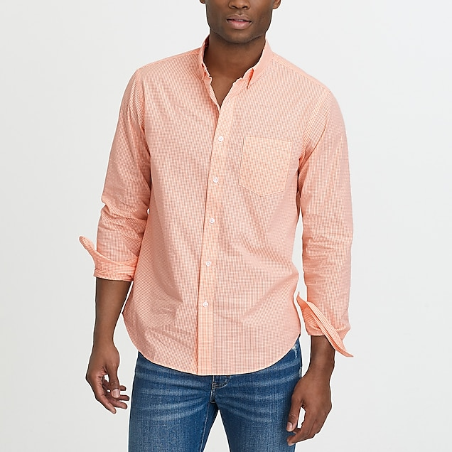 j.crew factory: washed shirt in microgingham