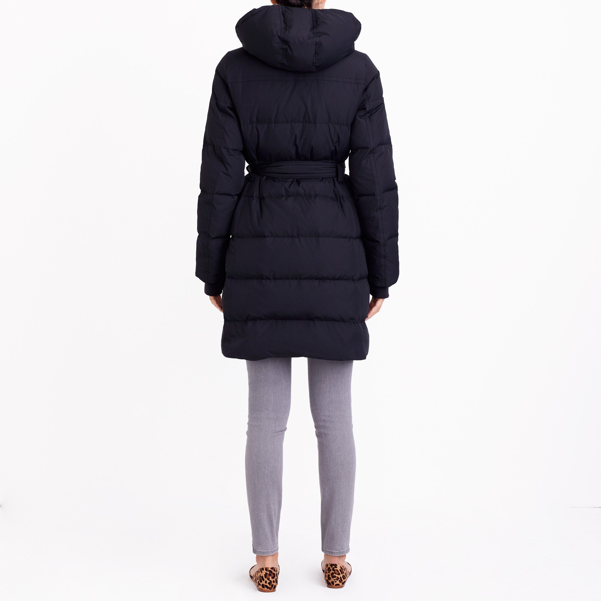 Image 3 for Long belted puffer jacket