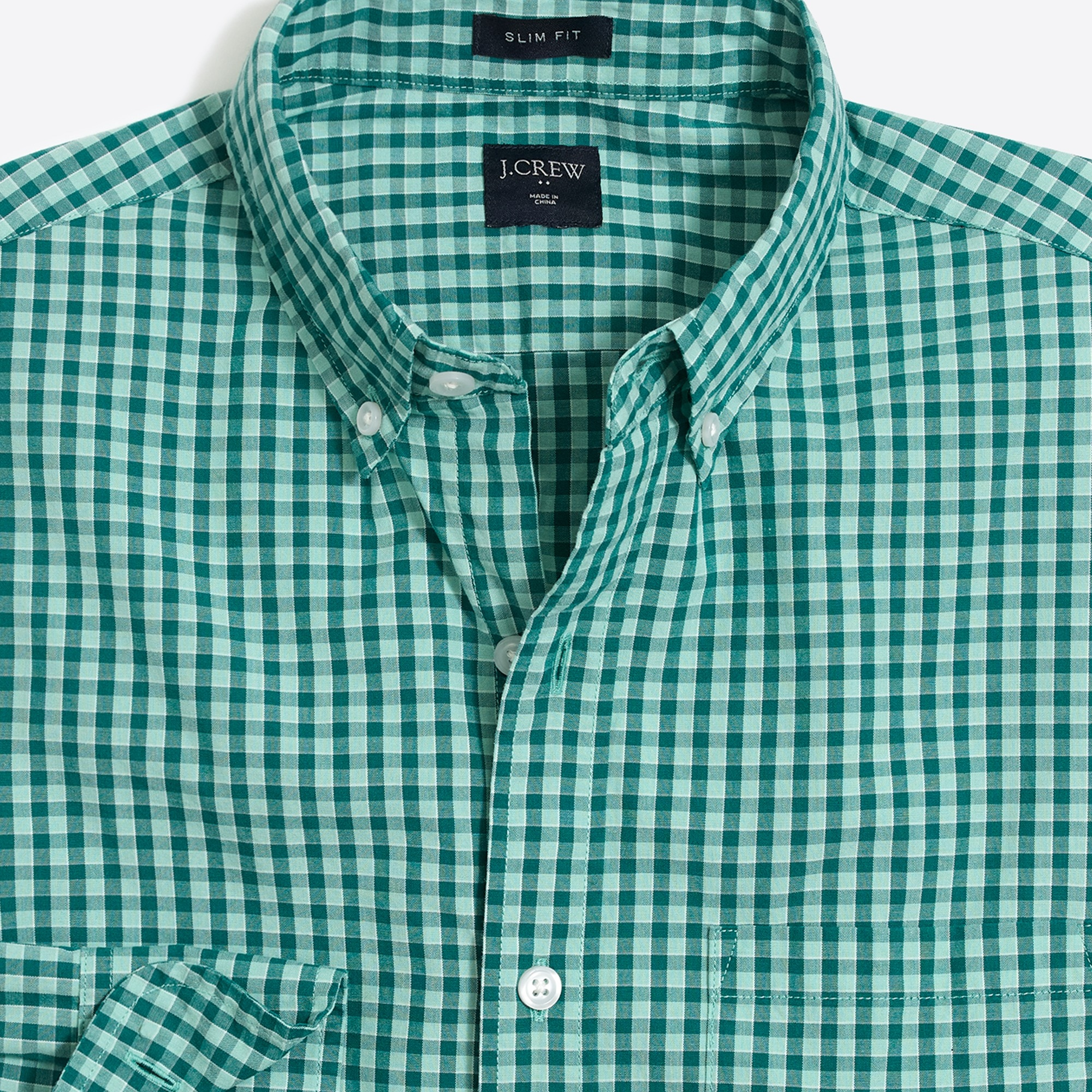 Image 2 for Slim washed shirt in plaid