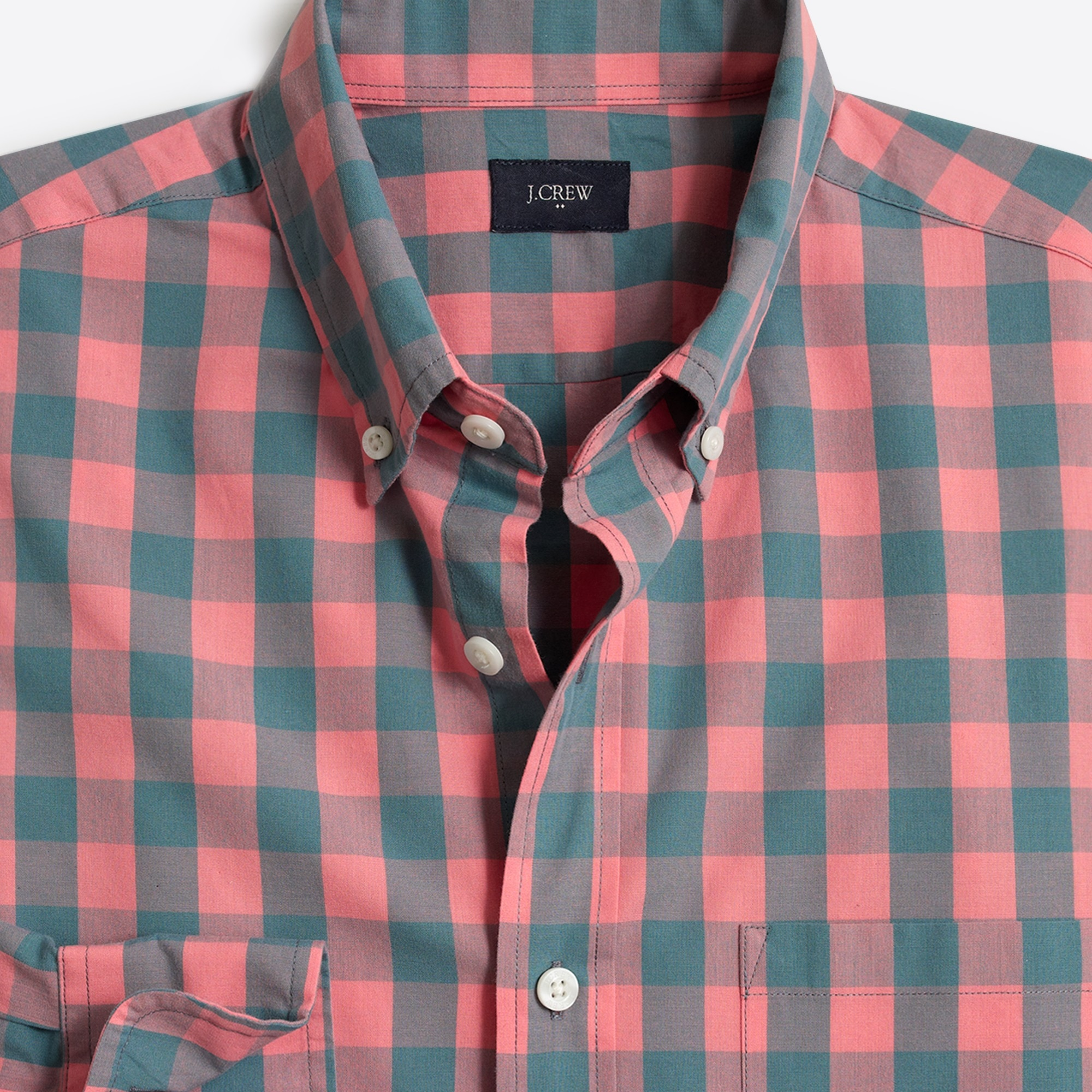 Image 2 for Washed shirt in gingham