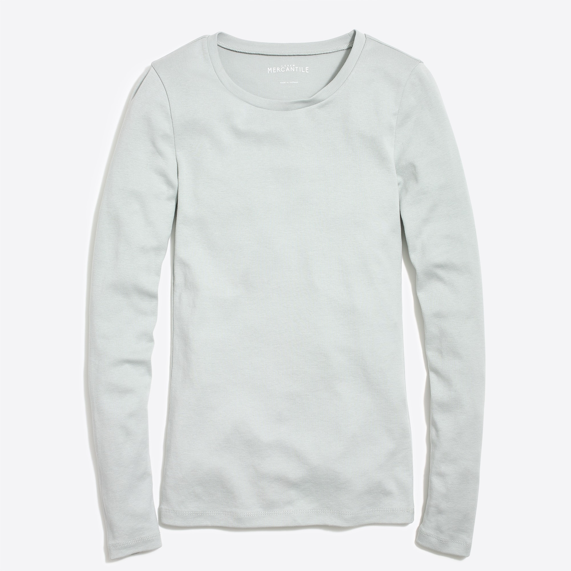 factory womens Fine-rib cotton long-sleeve T-shirt