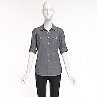 Image 4 for Two-pocket chambray shirt