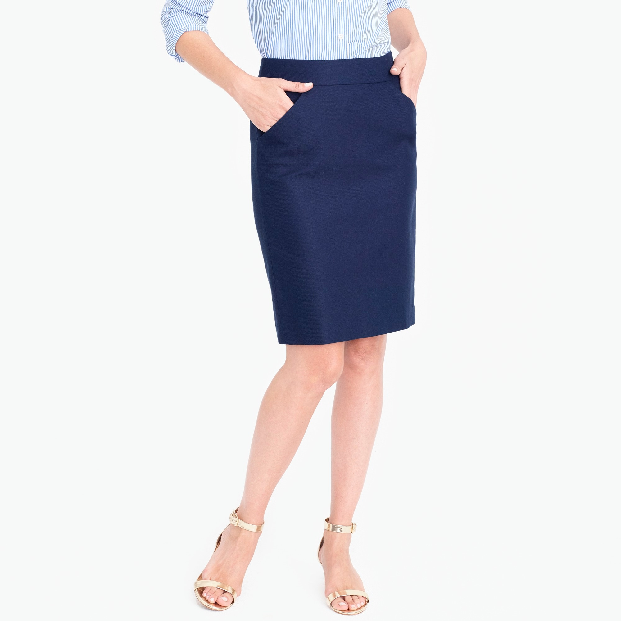 Pencil skirt in double-serge cotton factorywomen sizes 18-20 c