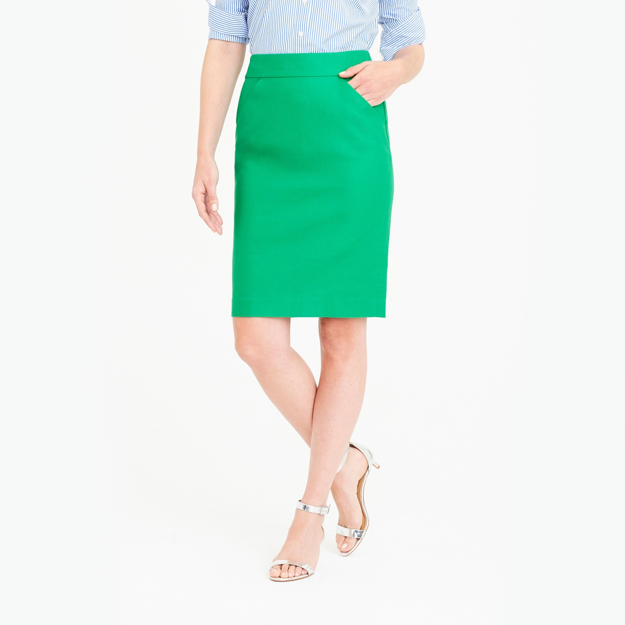 Pencil skirt in double-serge cotton factorywomen skirts c