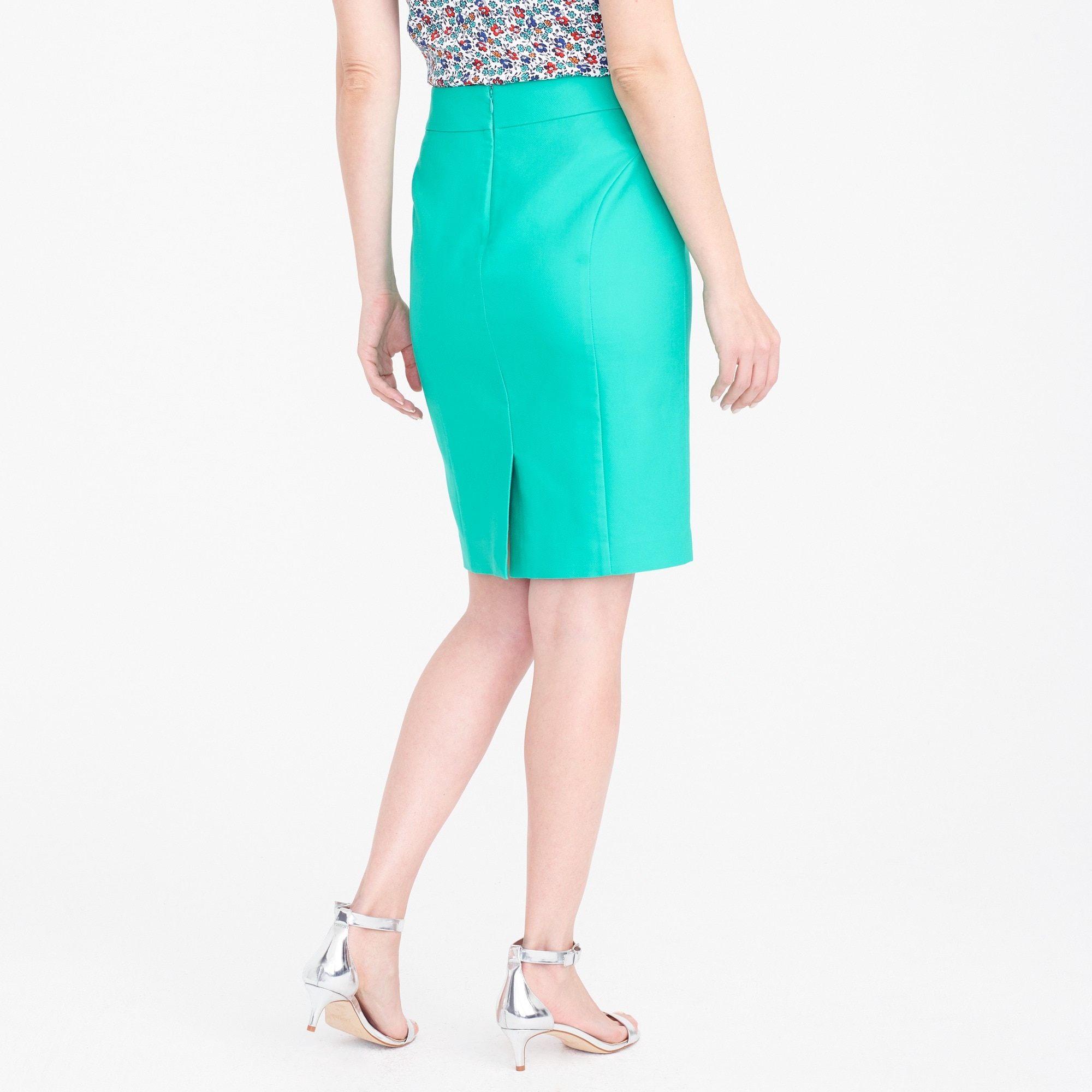 Petite pencil skirt in double-serge cotton