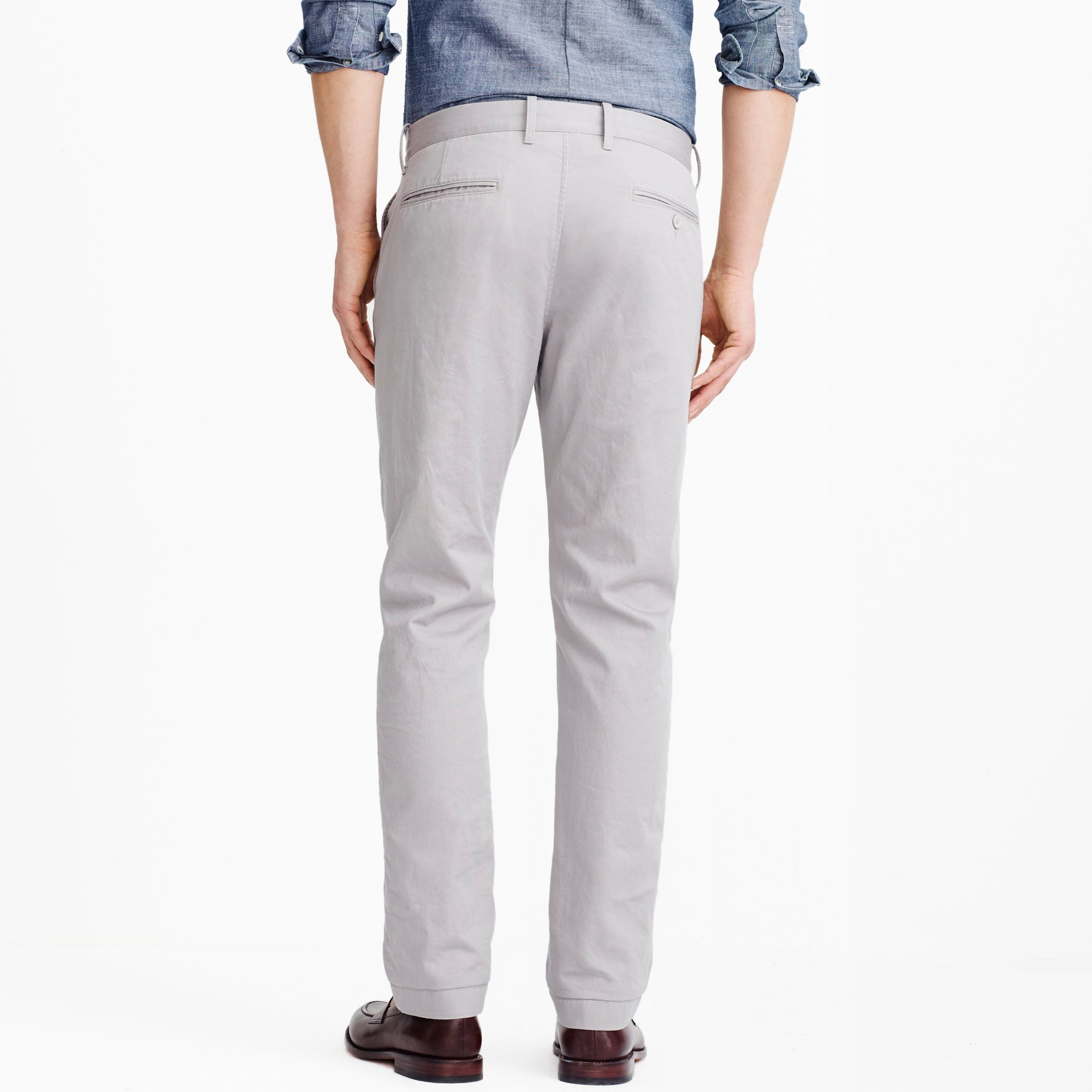 Straight-fit broken-in chino