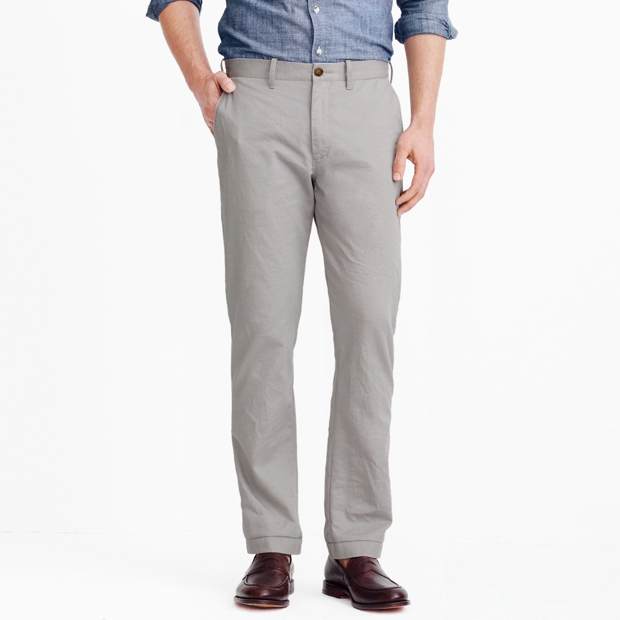 straight-fit broken-in chino - men's pants