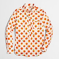 Image 1 for Printed voile popover shirt