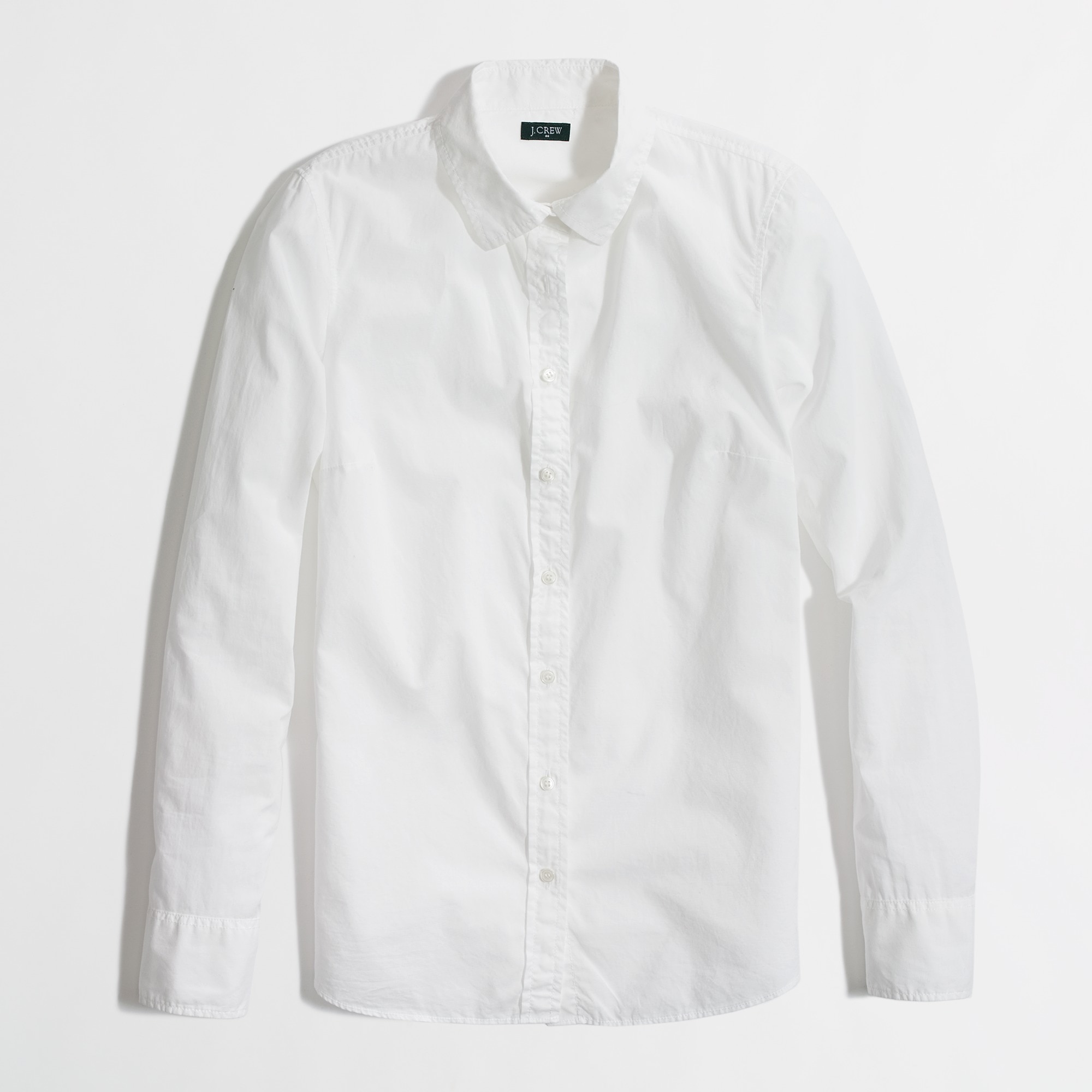 Image 1 for Factory white button-down shirt