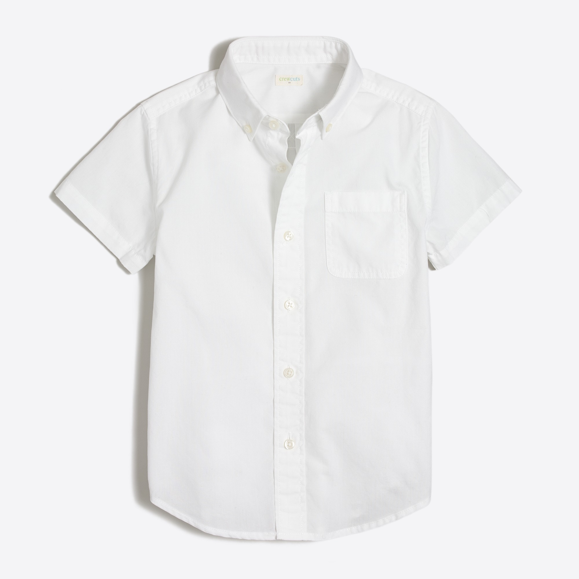 Boys' short-sleeve washed shirt