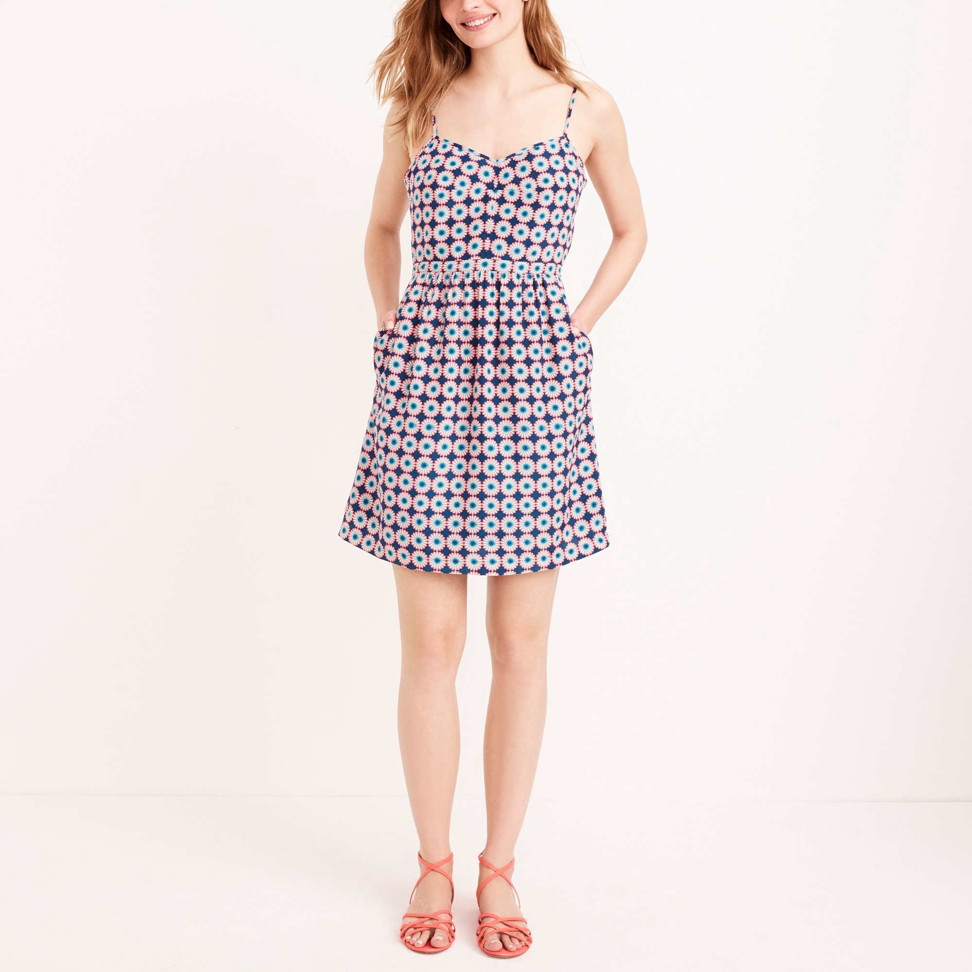Printed seaside cami dress