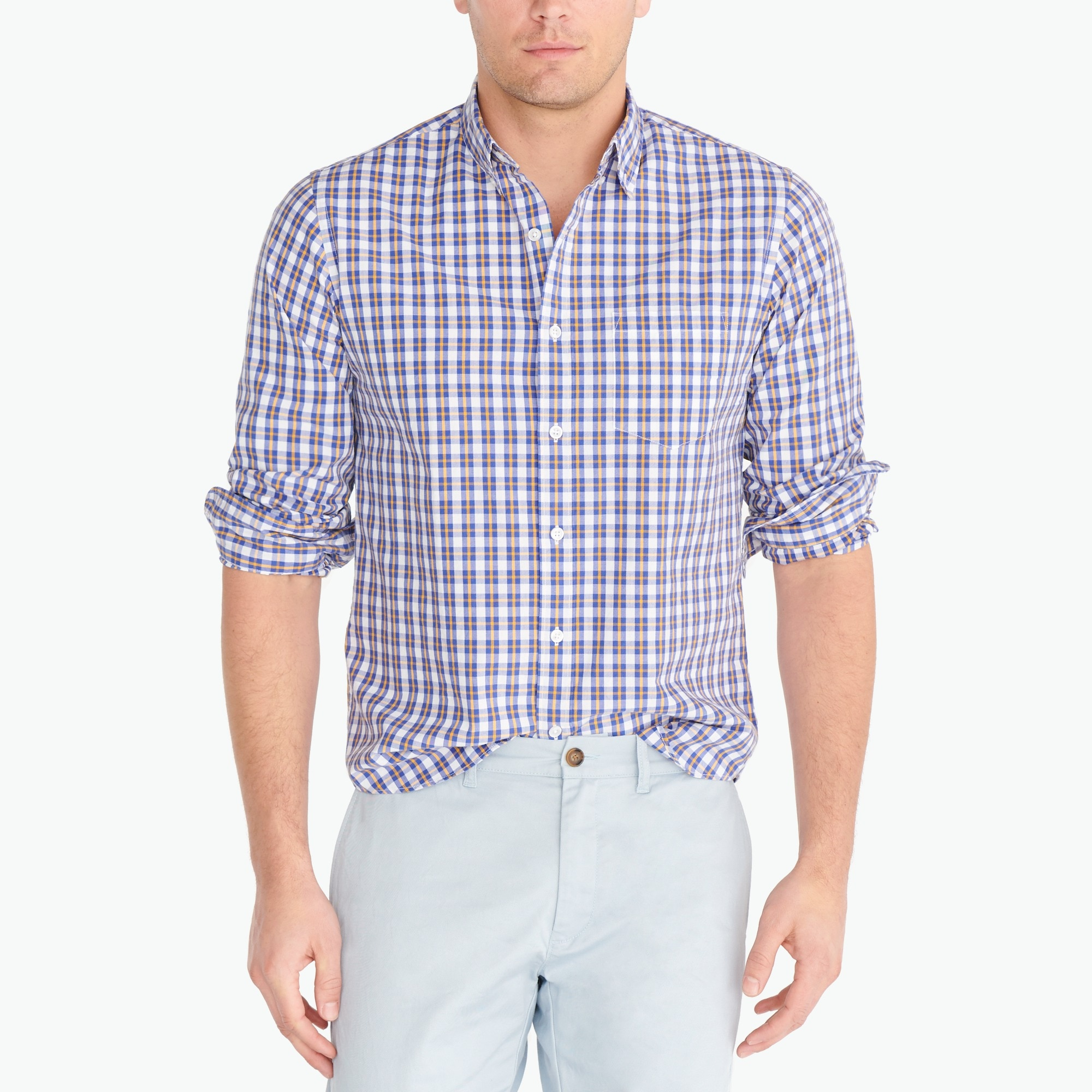 Image 1 for Washed shirt in medium plaid