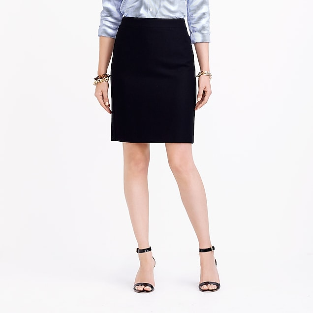 j.crew factory: pencil skirt in double-serge wool