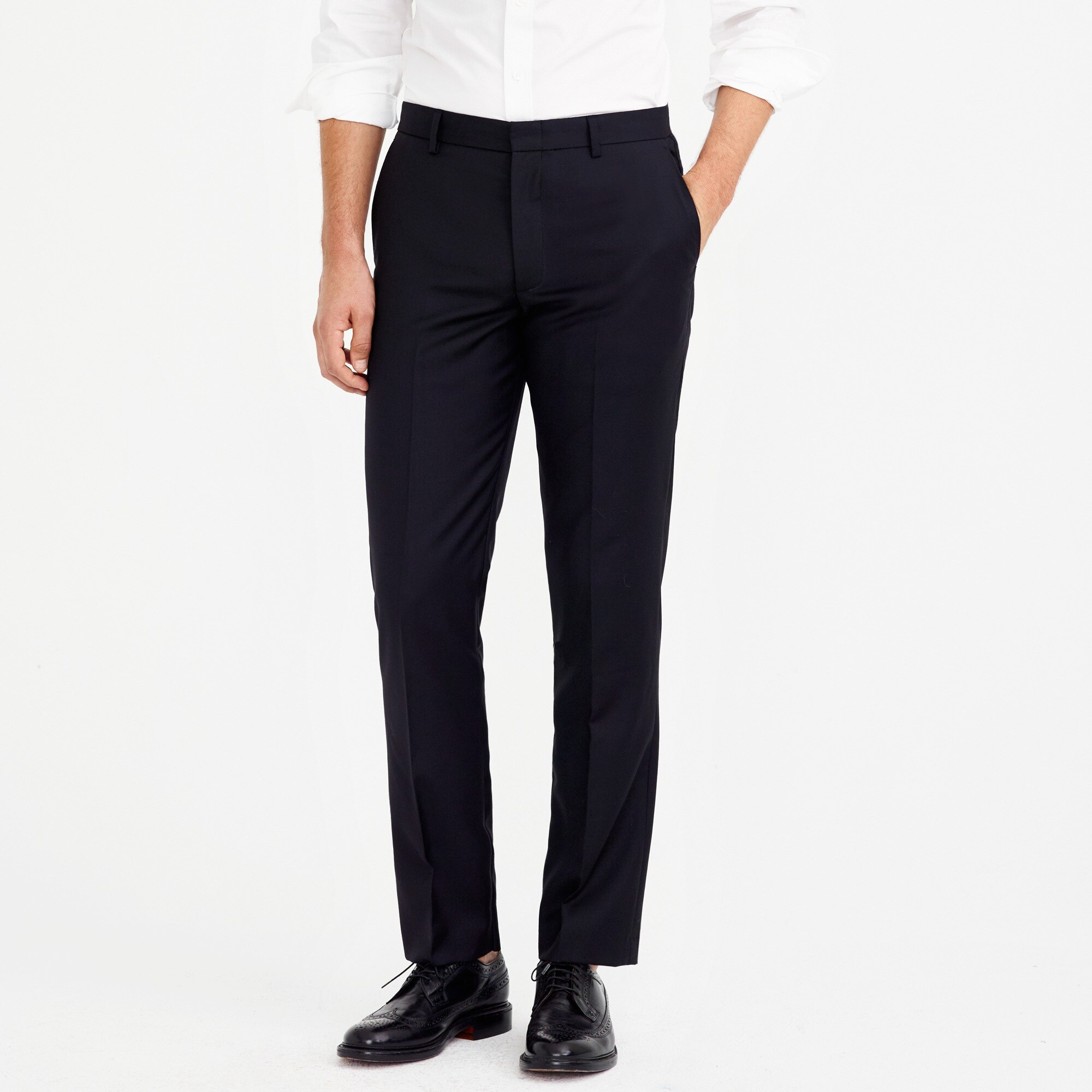 factory mens Classic-fit Thompson suit pant in worsted wool