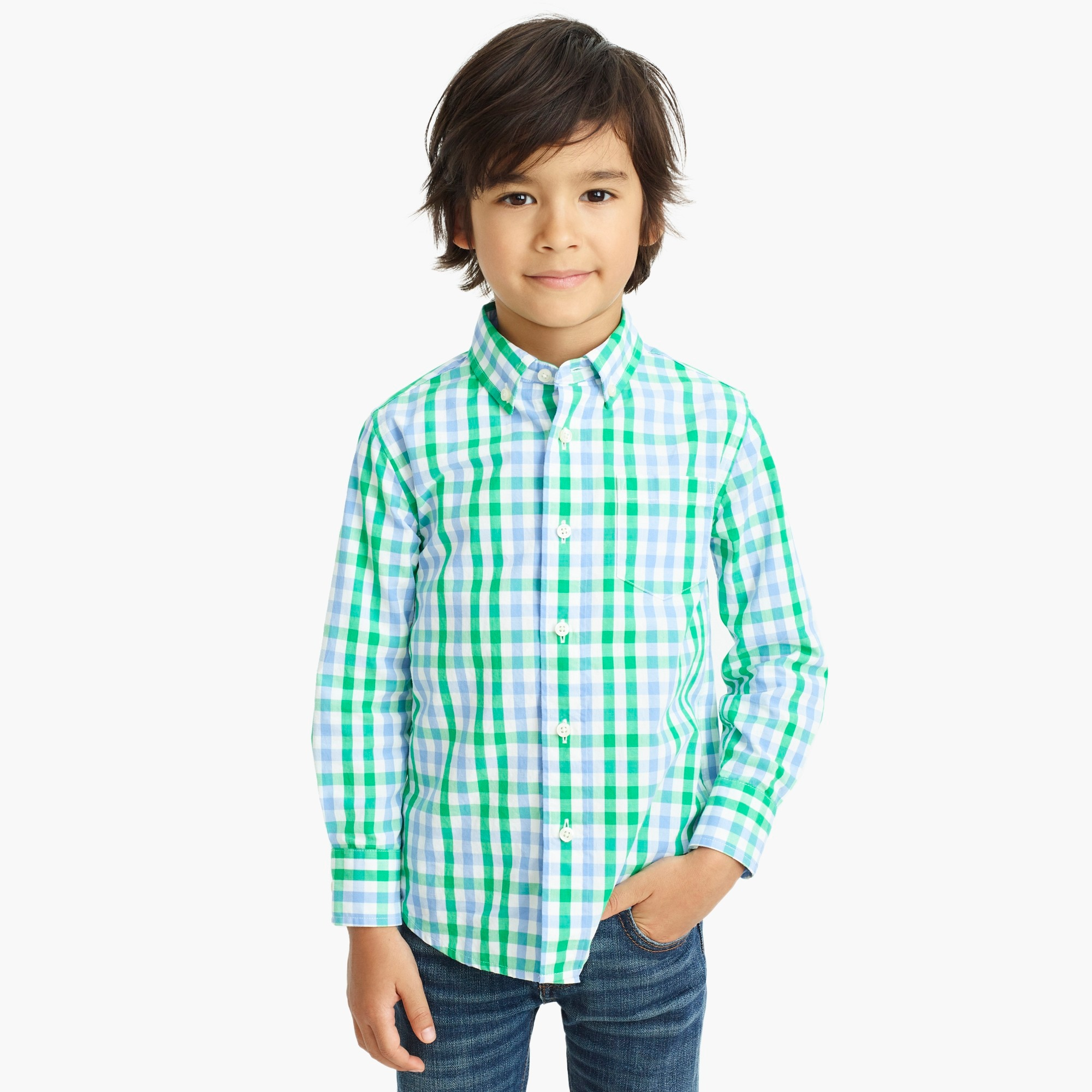 Image 1 for Boys' patterned washed shirt