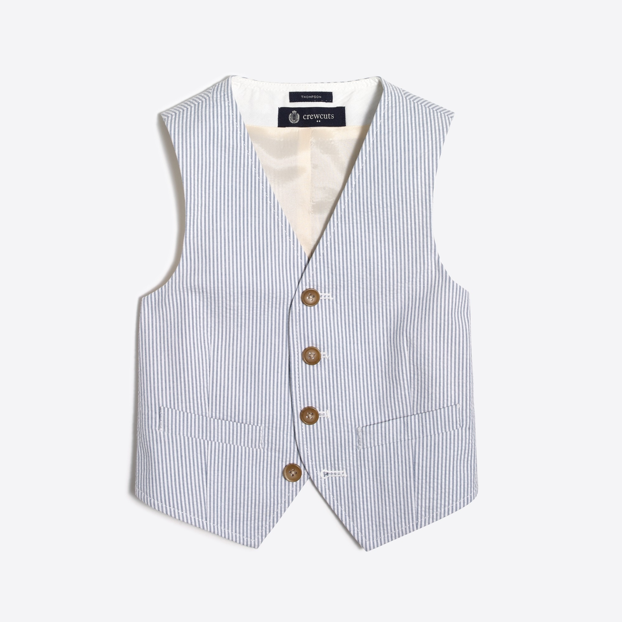 boys' thompson suit vest in seersucker : boys' suits