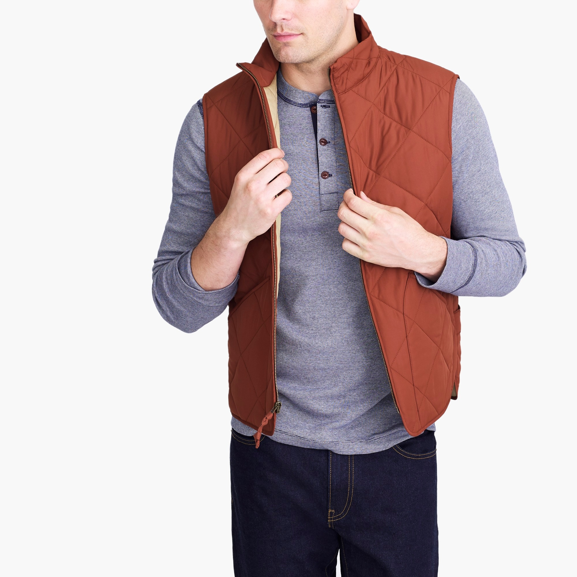 factory mens J.Crew Mercantile Walker vest