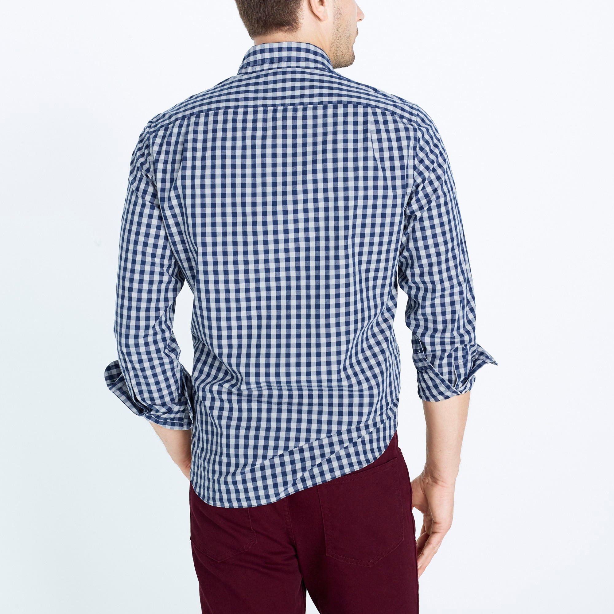 Image 3 for Washed shirt in two-tone gingham