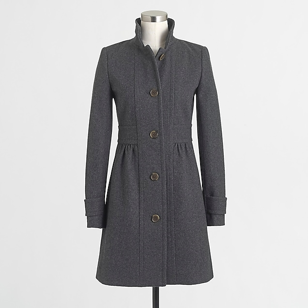 j.crew factory: factory skirted dress coat