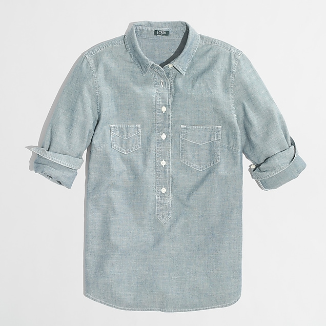 j.crew factory: factory chambray popover