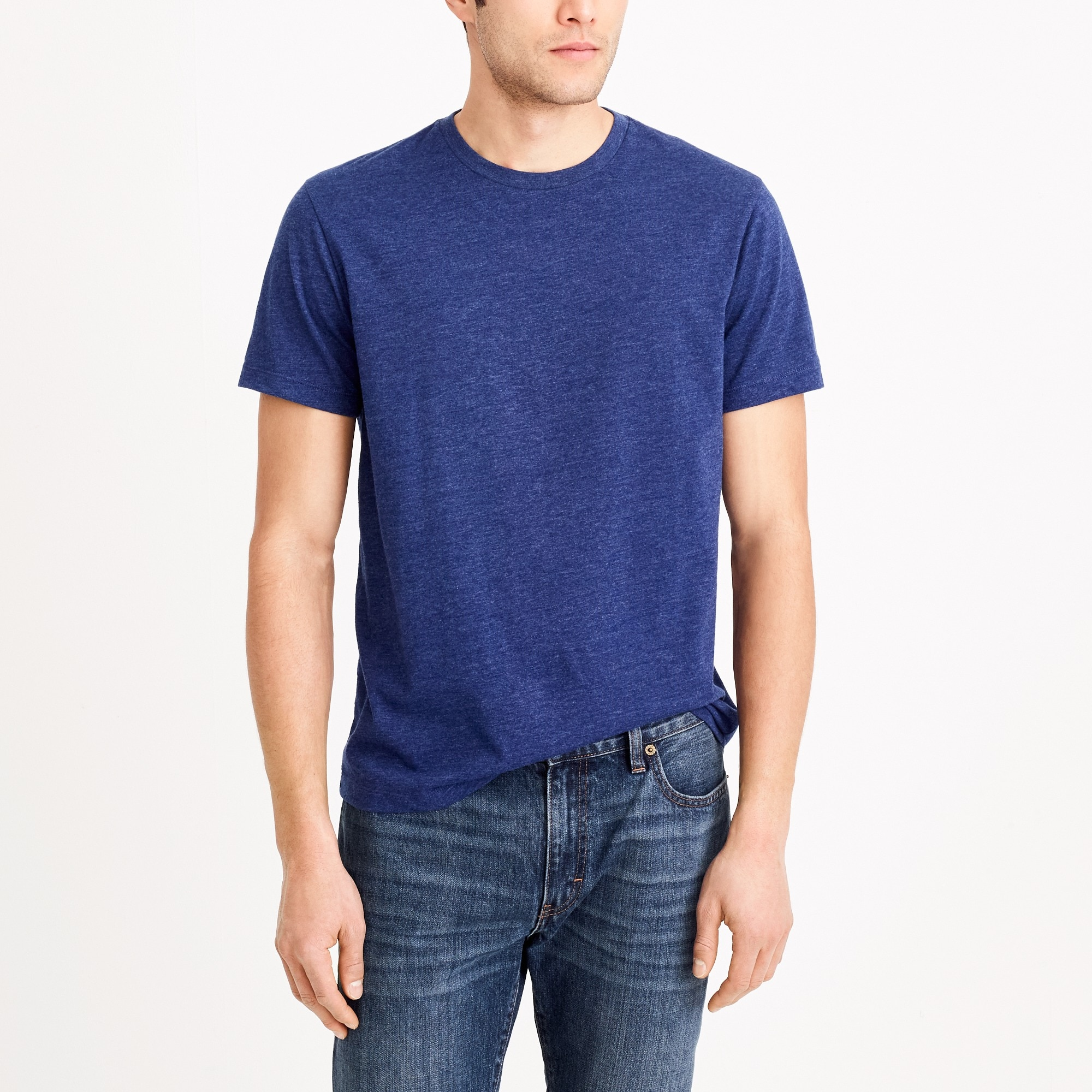 factory mens Heathered Broken-in T-shirt