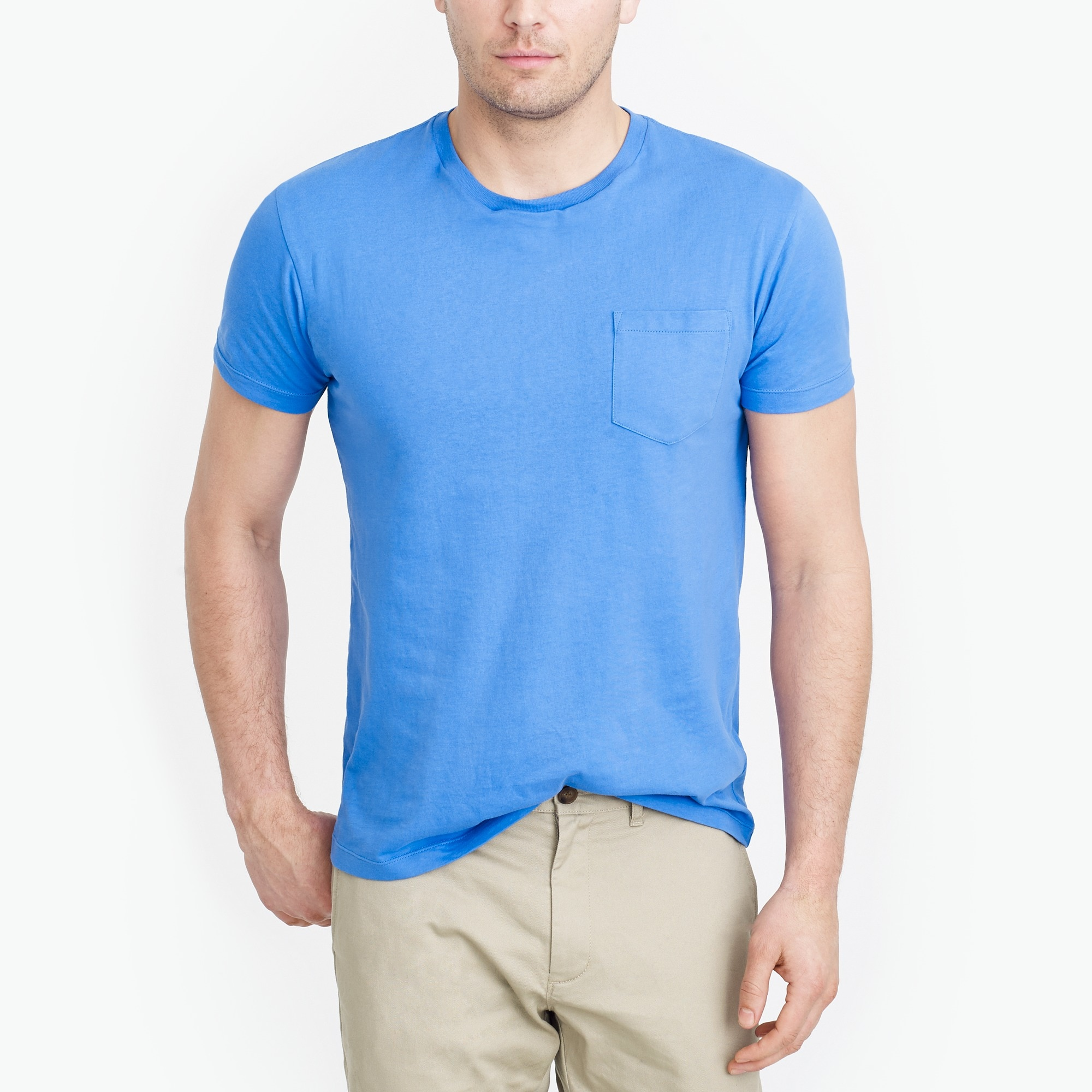 men's slim washed pocket t-shirt - men's knits