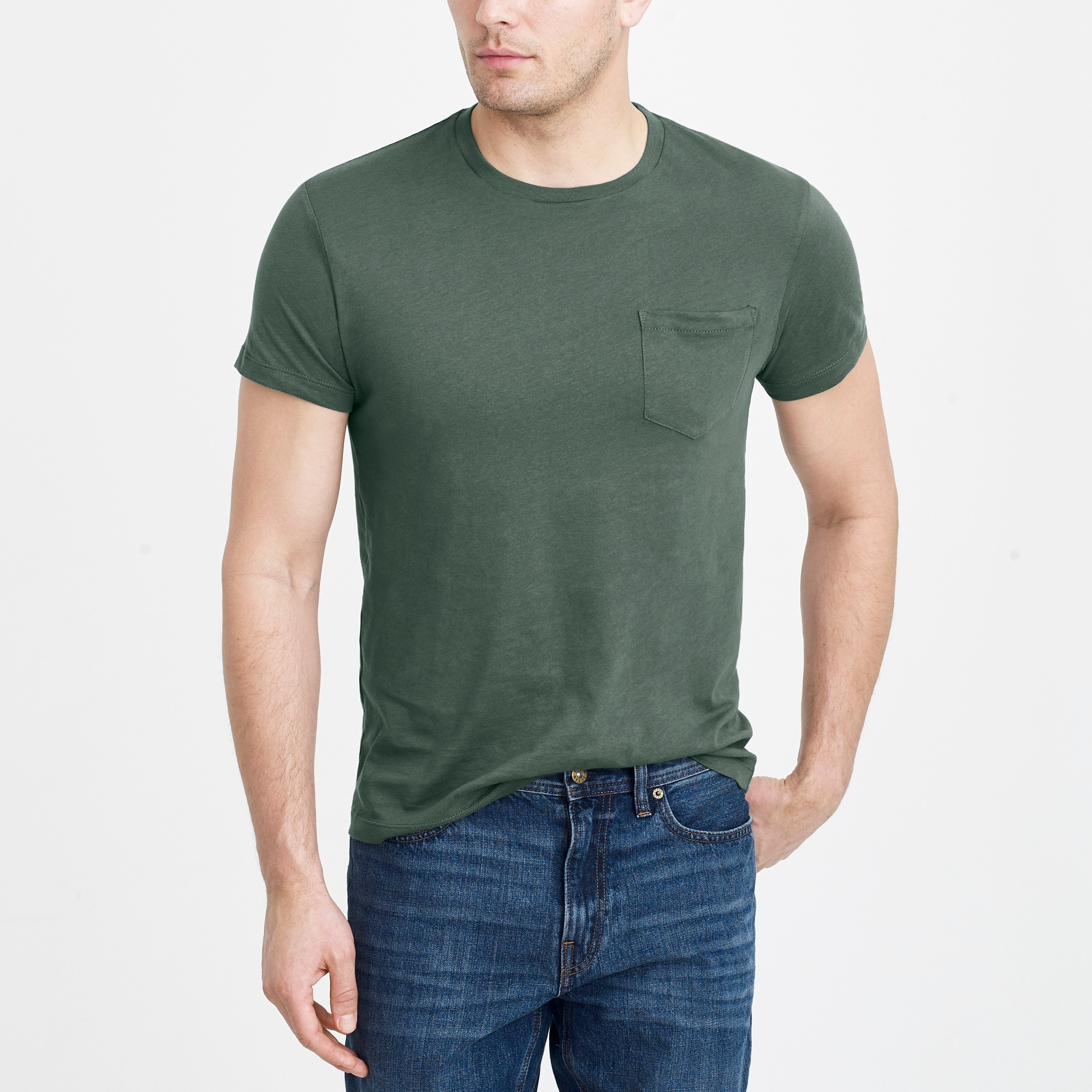 factory mens J.Crew Mercantile slim Broken-in pocket T-shirt