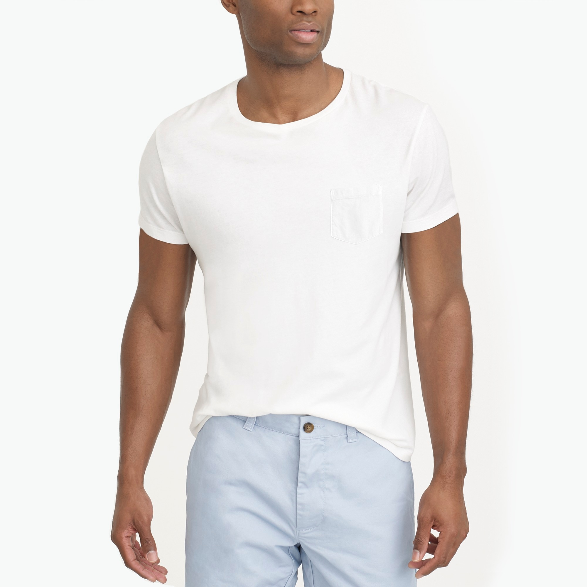factory mens Slim Broken-in pocket T-shirt
