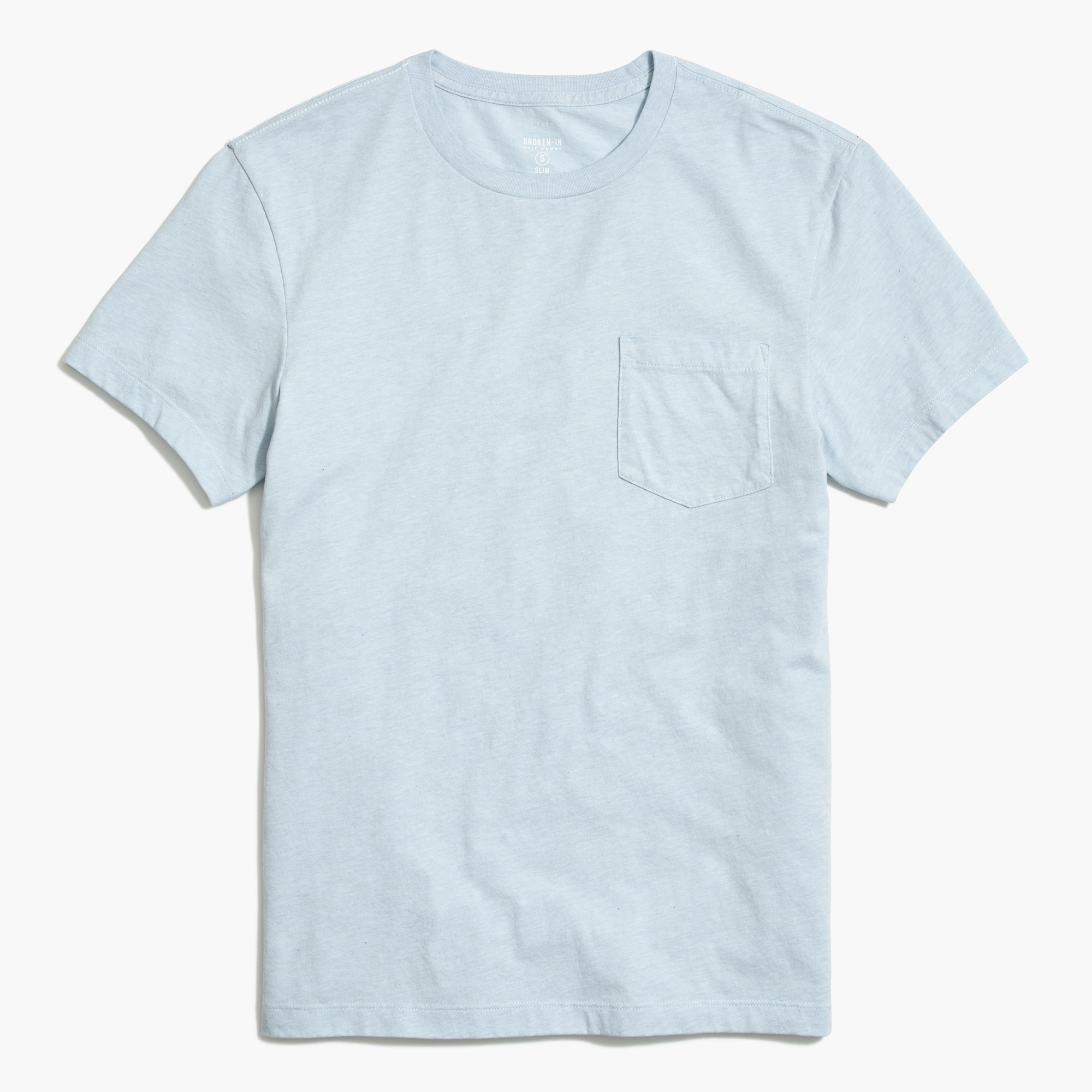 Image 2 for Slim heathered washed pocket T-shirt