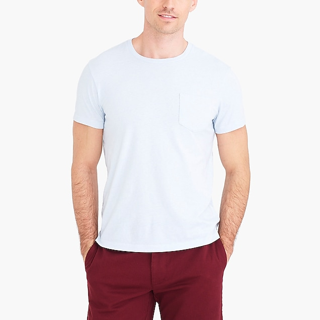 j.crew factory: slim heathered washed jersey pocket t-shirt