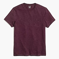 Slim heathered washed jersey pocket T-shirt