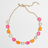 Factory neon stone and crystal necklace