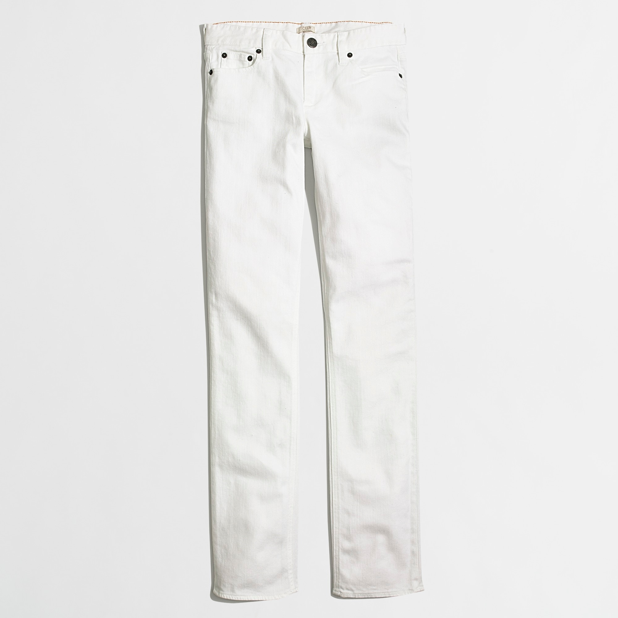 Image 1 for White straight and narrow jean