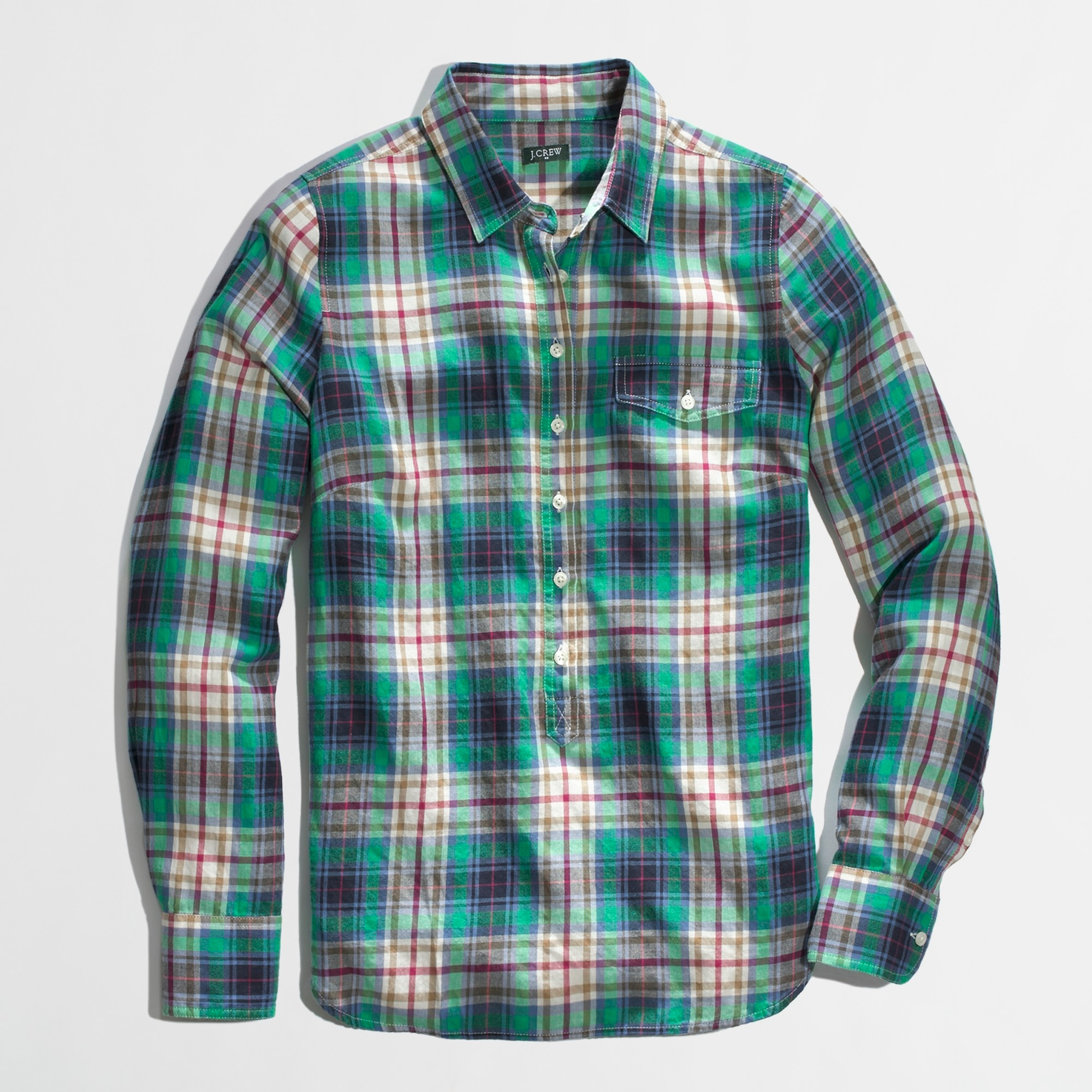 Factory plaid popover