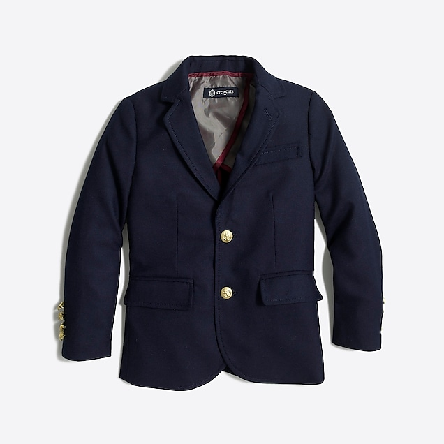j.crew factory: boys' gold-button blazer