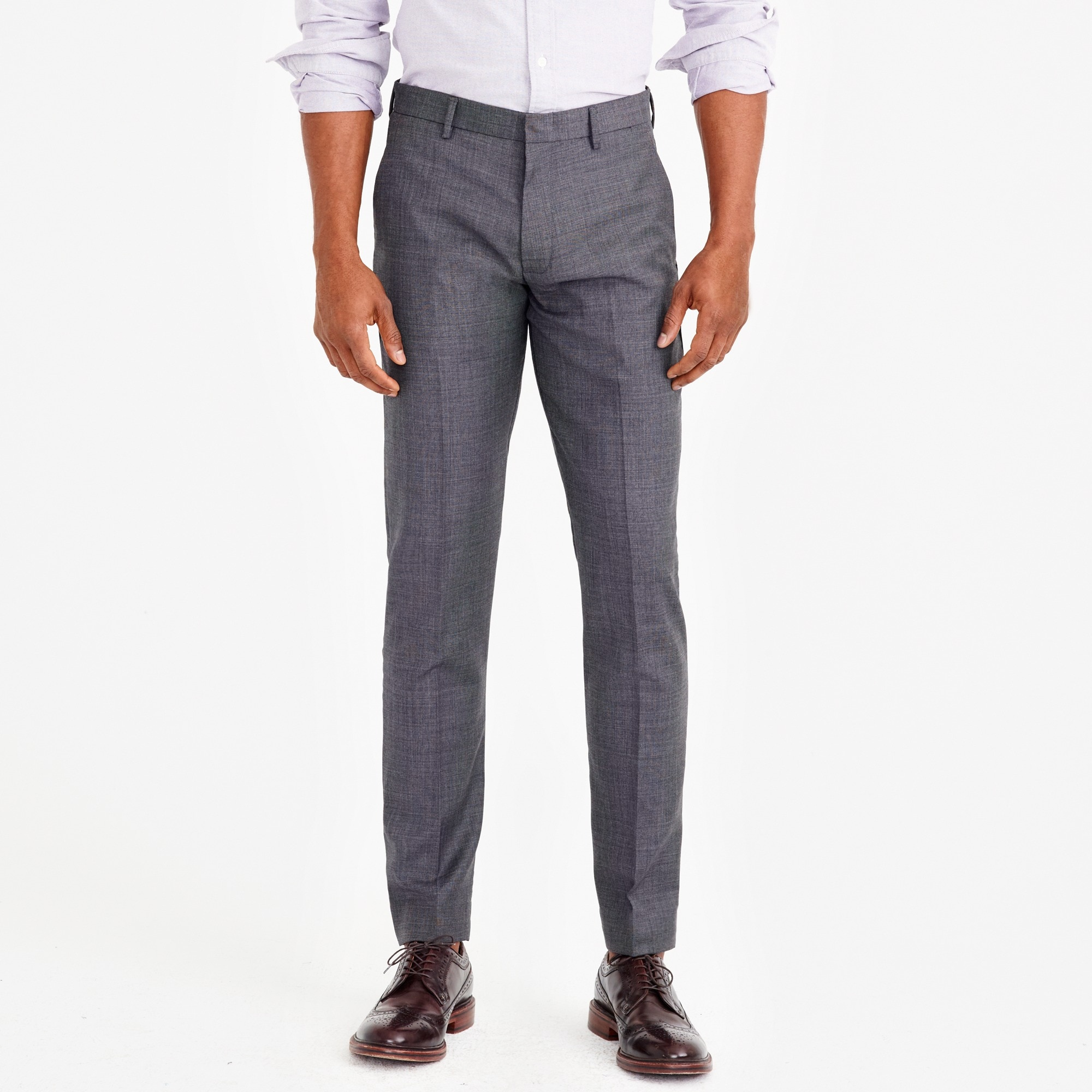 factory mens Slim-fit Thompson suit pant in worsted wool