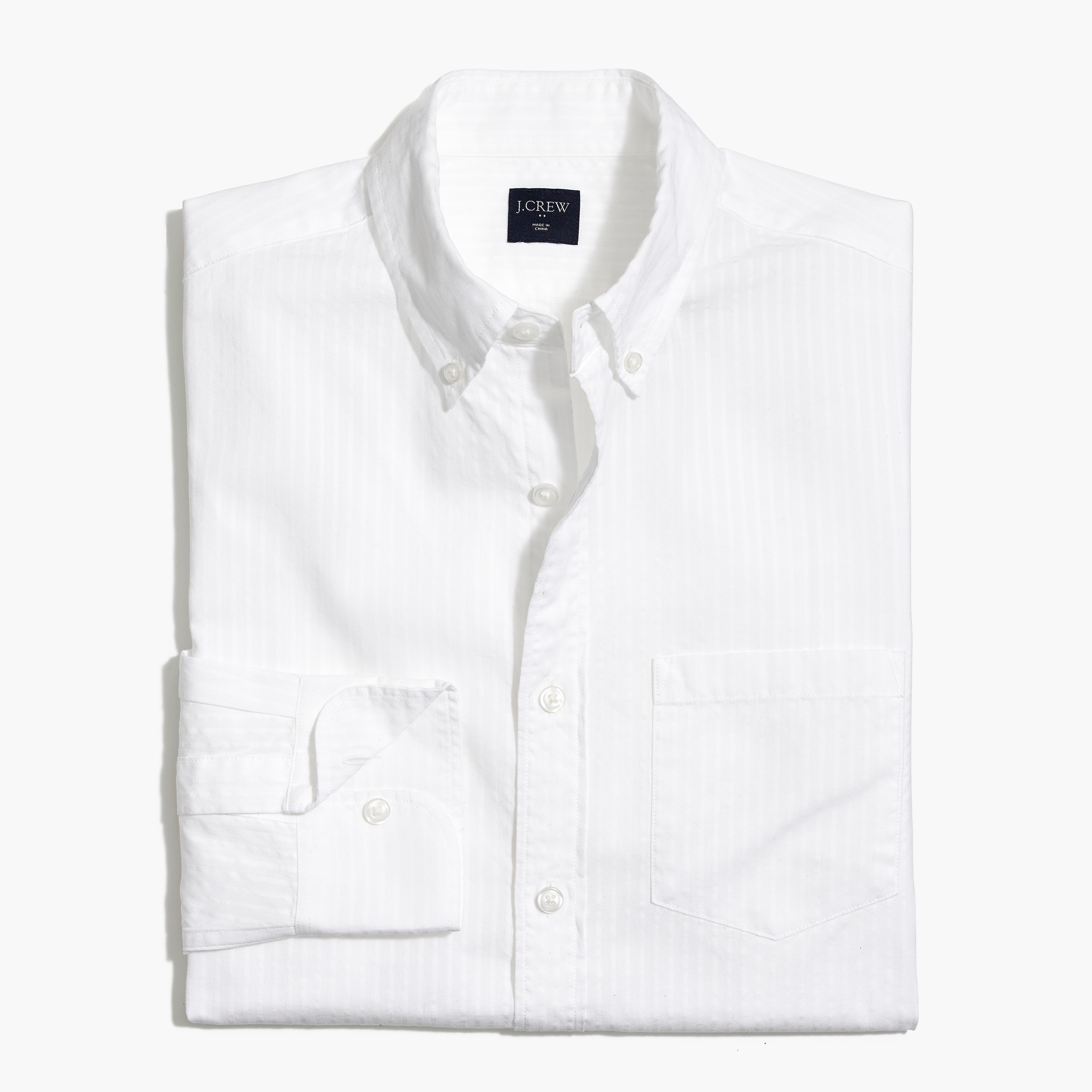 factory mens Slim-fit seersucker shirt